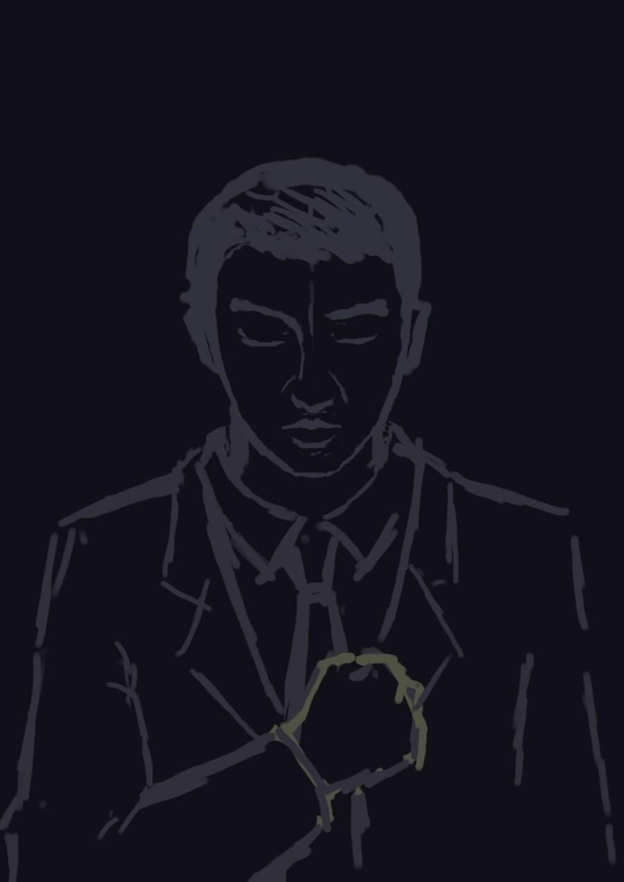 三体2黑暗森林-罗辑|绘画习作|插画|阿基拉 - 原