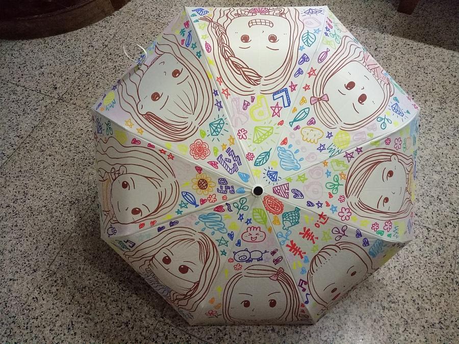 原创作品:手绘雨伞