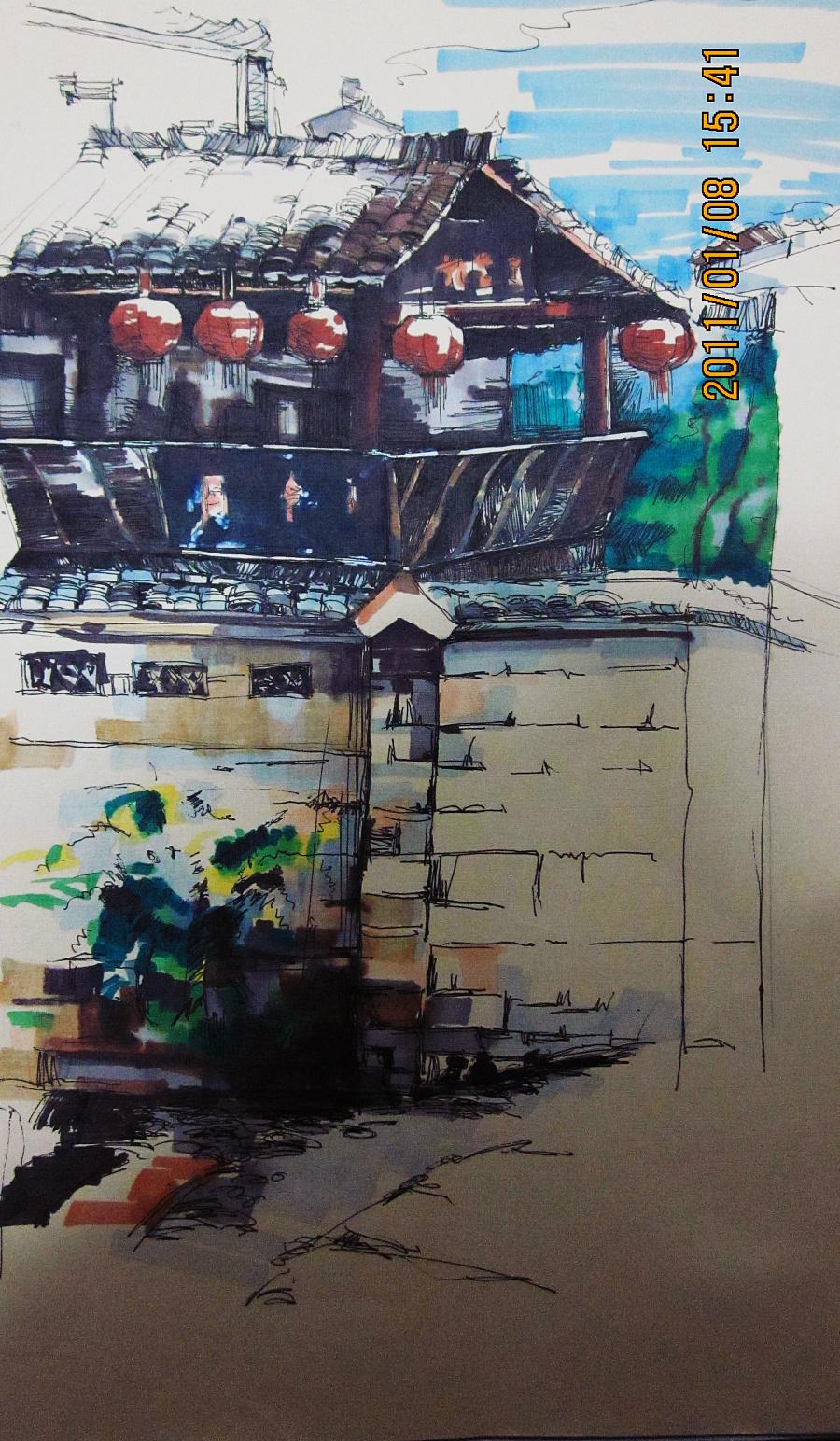 马克笔手绘效果图|其他艺创|纯艺术|许许哈哈加哈哈