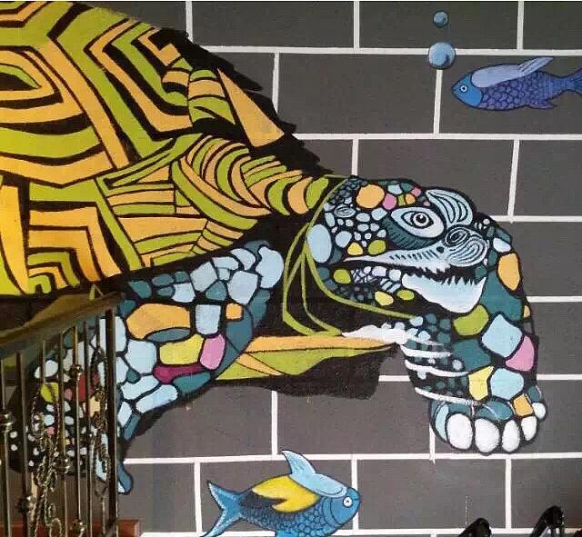 餐饮墙绘壁画_烤鱼店手绘墙图片素材_【壁画公司】免费设计报价