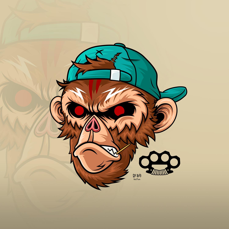 潮流插画 - monkey|平面|图案|orchidpaladin - 原创图片