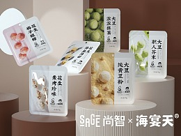 尚智x海宴天 | 休闲裹衣花生&大豆包装设计