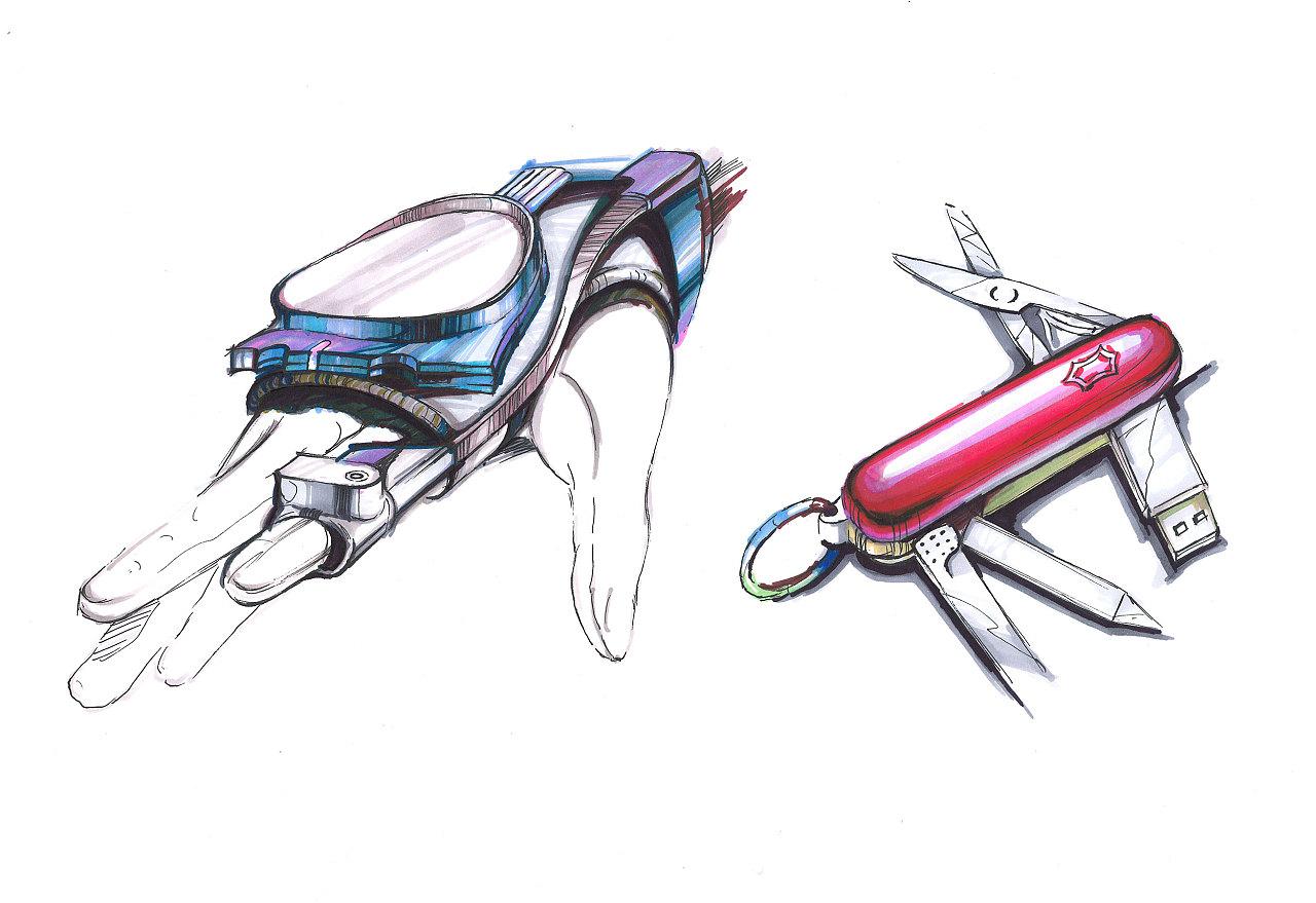 产品设计手绘作品马克笔