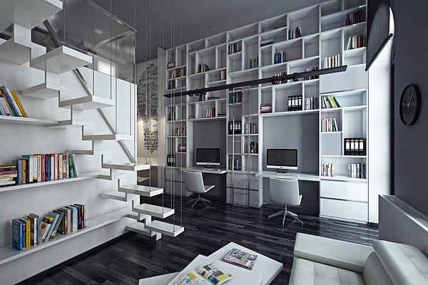 loft户型办公室装修设计-成都办公室装修公司|室内