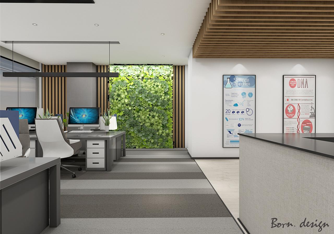 南京办公室设计空间分享|案例|室内设计|博仁设计设计百度贴吧图片