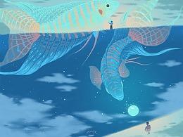 叉尾斗鱼的霓虹