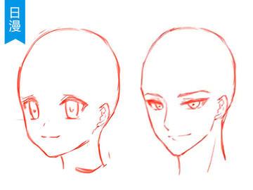视频教程: 【脸部五官】男女侧脸画法差异(点击学习) 如下图中,将头