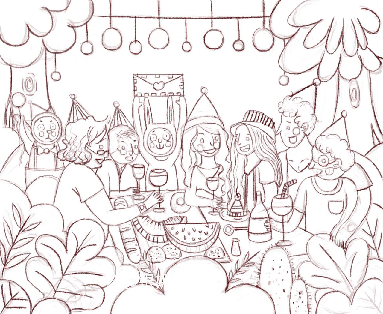 夏日仲森林之聚餐