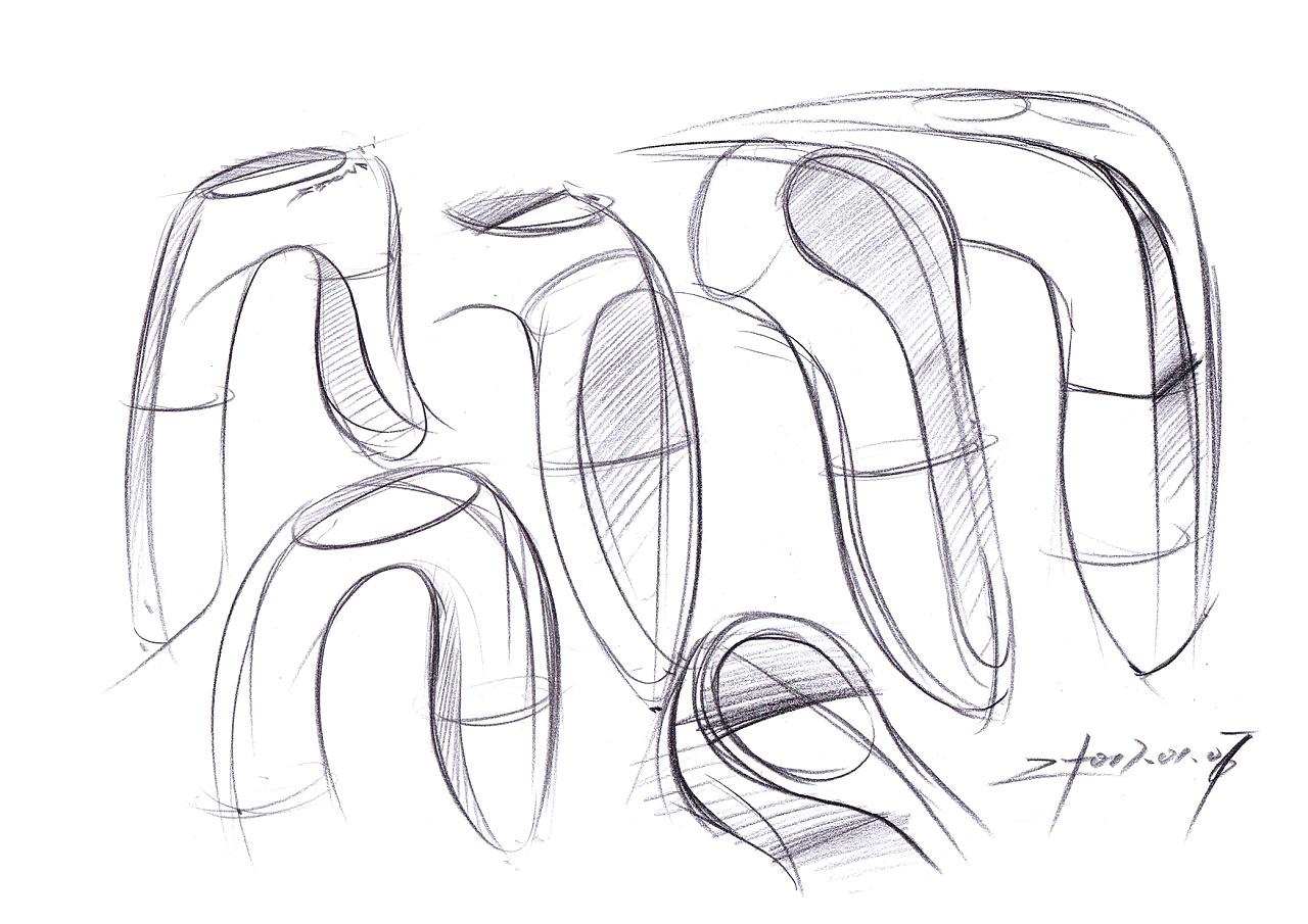 产品设计手绘每日随机择一【一日一画】,设计草图形态