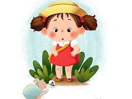儿童插画人物。