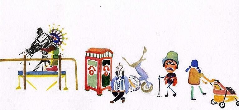 年轮驿站手绘插画作品