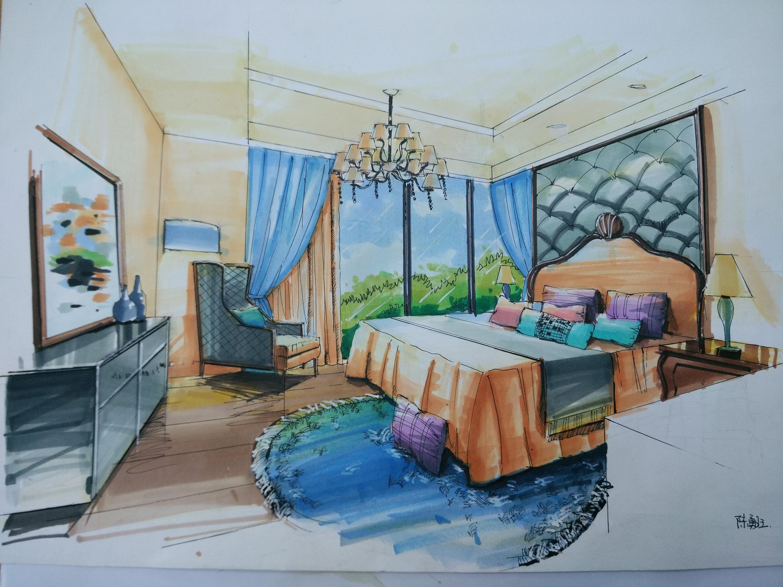 室内手绘|空间|室内设计|陈勇旺 - 原创作品 - 站酷
