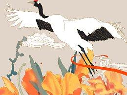 《舞美人蕉》白鹤系列