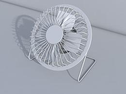 小风扇C4D建模