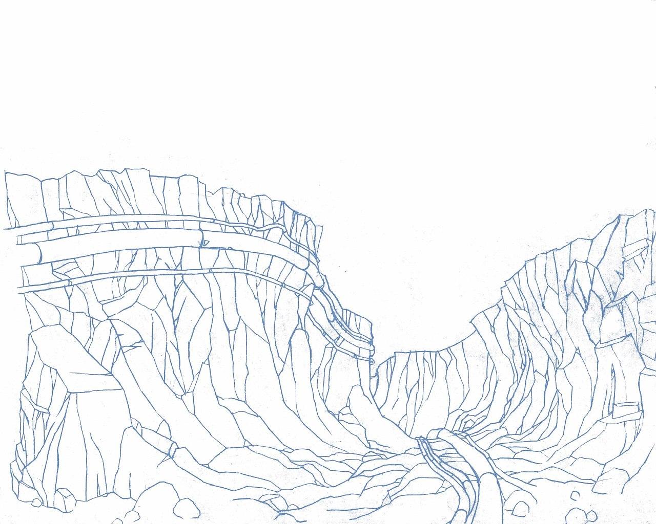 一些场景线稿|插画|插画习作|jamesqqq - 原创作品