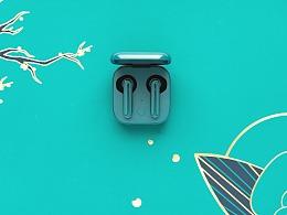 坚果无线耳机·绿色