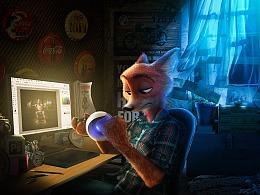 【魔法视觉】玩C4D的狐尼克