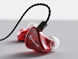 一组耳机/数据线渲染