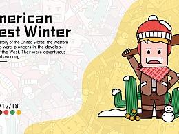 潮流插画 — American West Winter