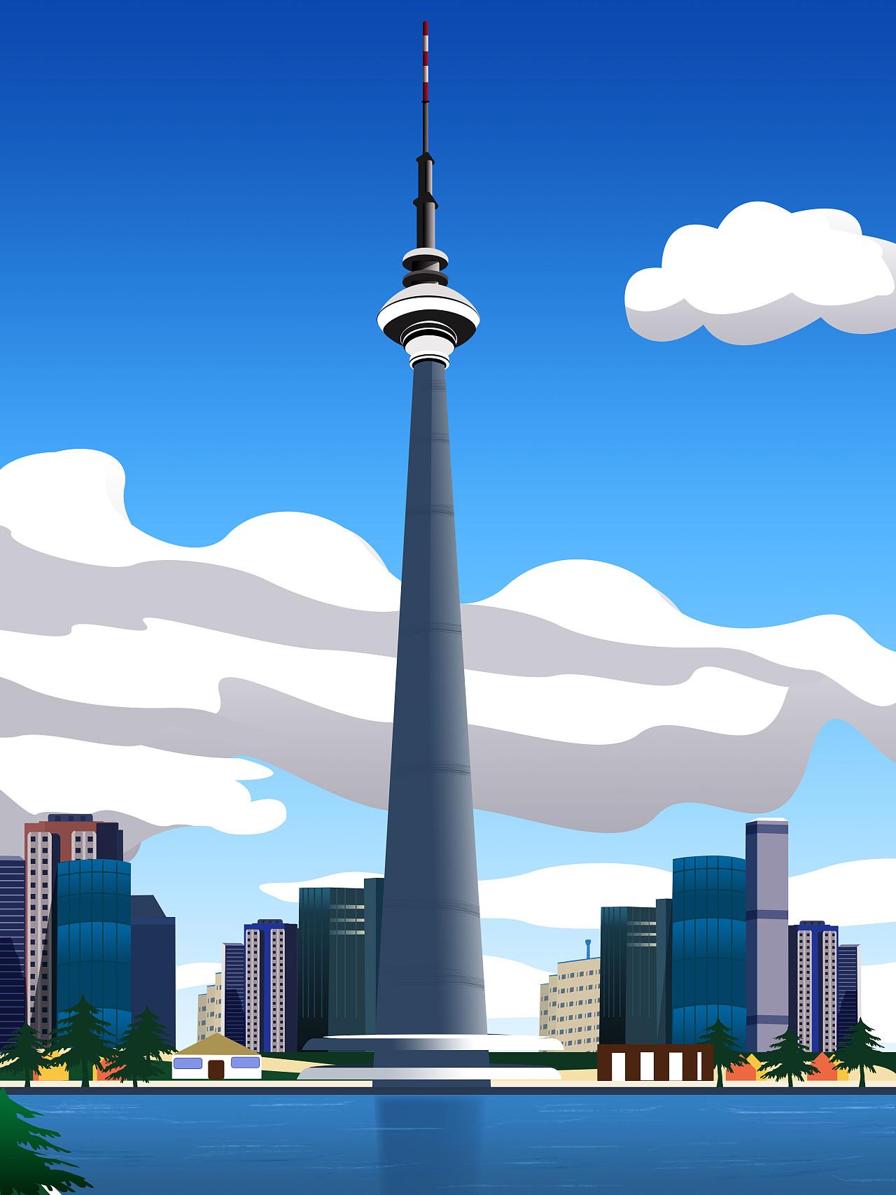 古今中外插画矢量建筑的简单构成居住区现代景观设计案例图片