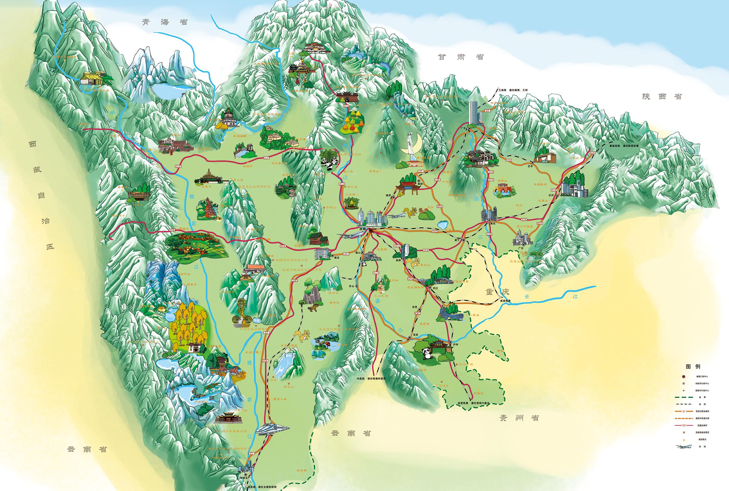 手绘地图|插画|商业插画|泡芙s - 原创作品 - 站酷
