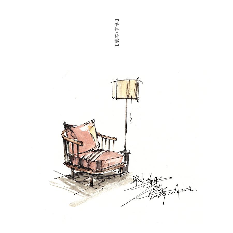 家具单体小品 室内设计 空间/建筑 三水00