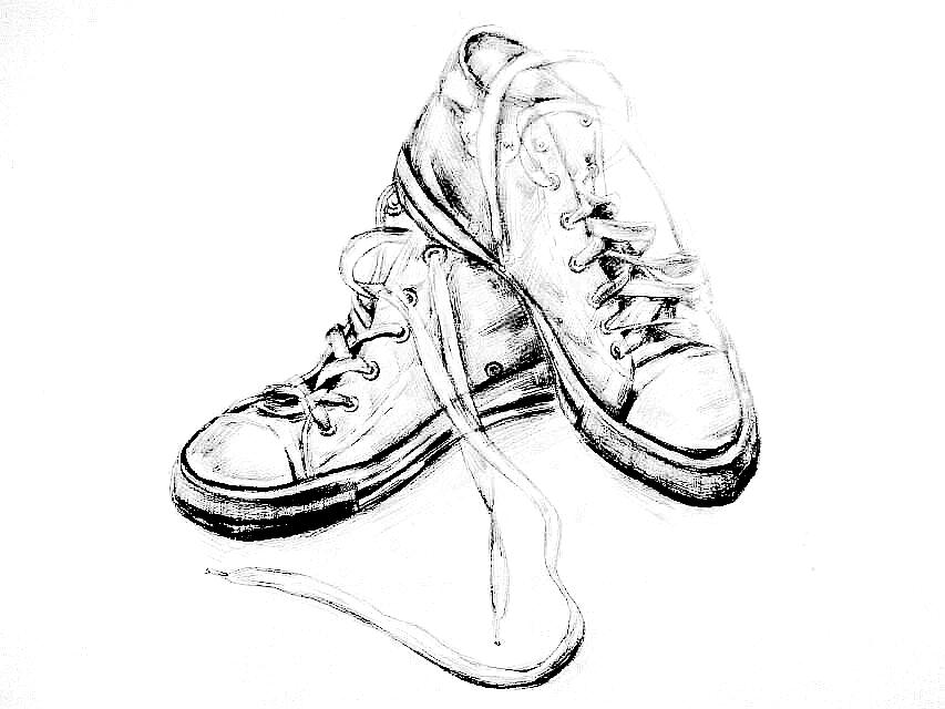 鞋子素描图片_鞋子创意设计素描图片图片