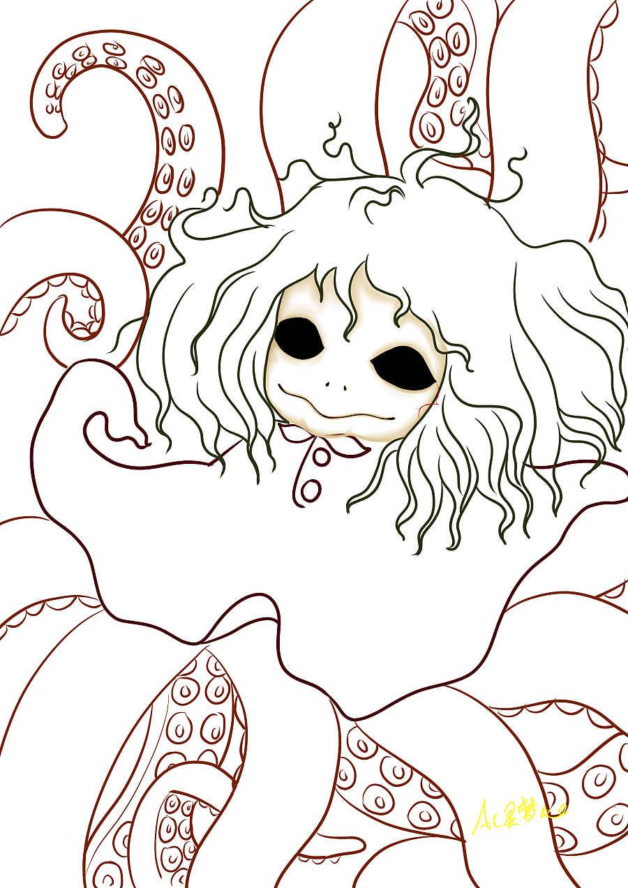 使用了:其他 - PaintToolSAI 使用了:WACOM - Bamboo 啊!!!如果吓到大家不好意思啊~o(>_<)o ~~我不是故意滴~ 老喜欢画重口味() 实在看得太多丧尸片了,无法抽离了!!啊!!!我的喜欢水粉画(゚゚lll)没了......这样就反了。 (T_T)/~~好吧!我不啰嗦了,下面是最近的原创新作品:恐怖八爪鱼娃娃 我想画重口味漫画,可惜我不会写故事~(()) 想在过年放假期间画一下。