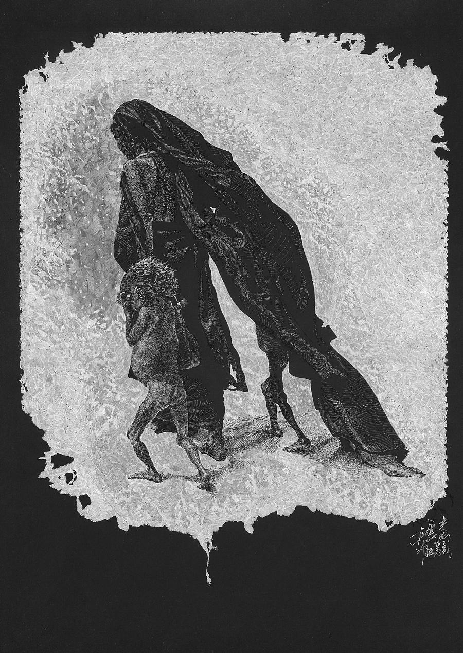 查看《黑白配》原图,原图尺寸:900x1270