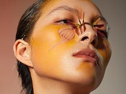 以蝴蝶为元素 一组创意妆面的拍摄