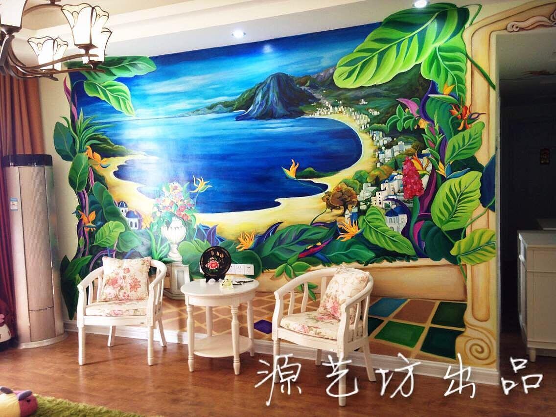 室内装修设计手绘壁画