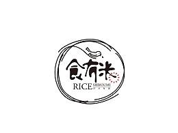 食米字体logo