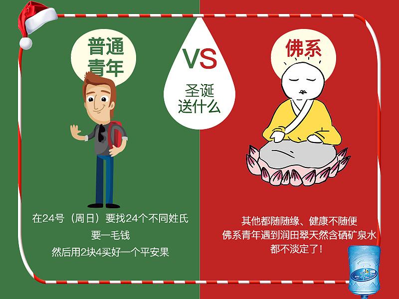 圣诞组图~佛系青年pk普通青年图片