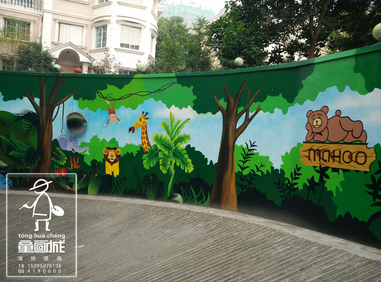 麦合轻旅酒店车库 手绘涂鸦墙绘壁画