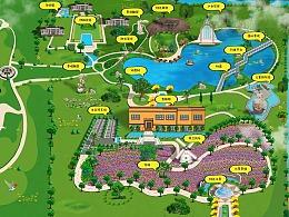 花溪小镇手绘地图