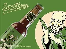 "soulbeer""福禄寿""系列啤酒包装设计"