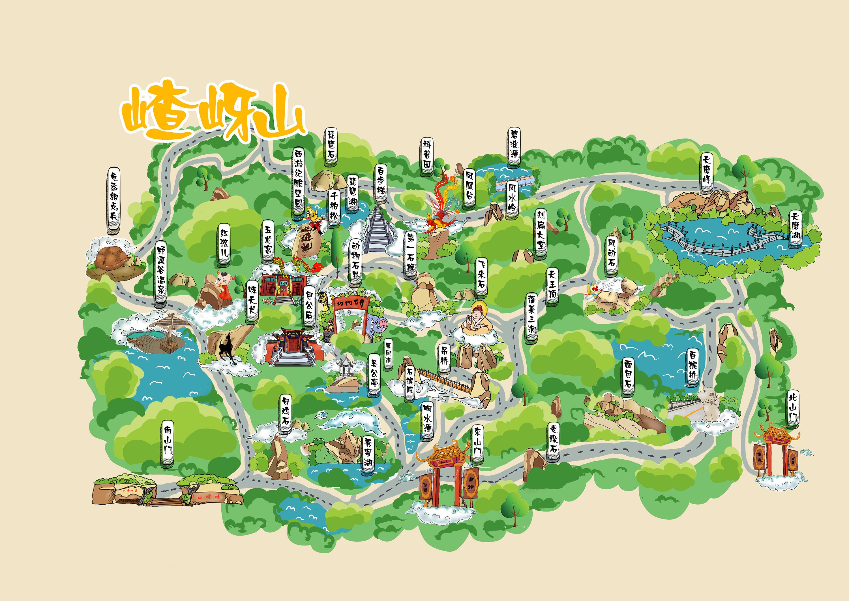嵖岈山手绘地图