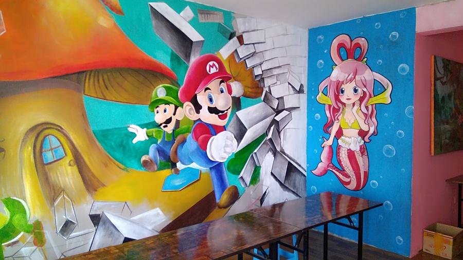 原创作品:手绘墙