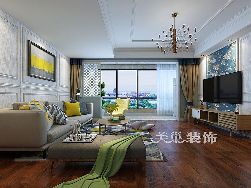 正弘澜庭叙115平三室两厅现代简约风格装修案例欣赏