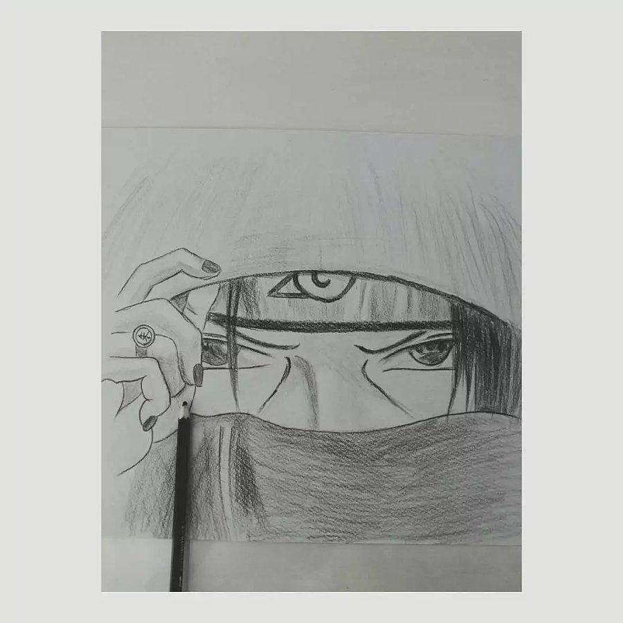 铅笔手绘鼬