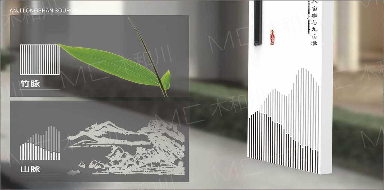 木和川标识绿城龙山源导视系统设计案例图片