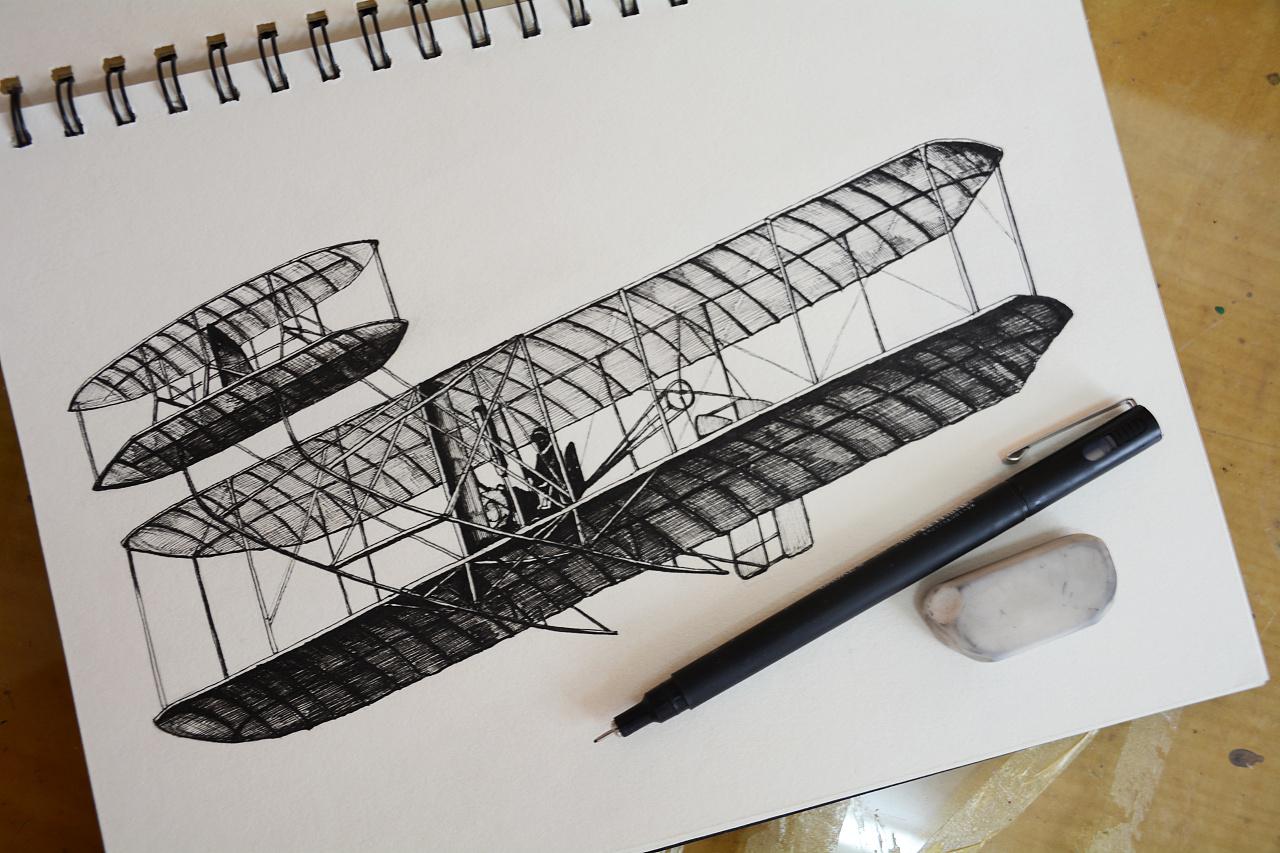 一些军事题材飞机手绘