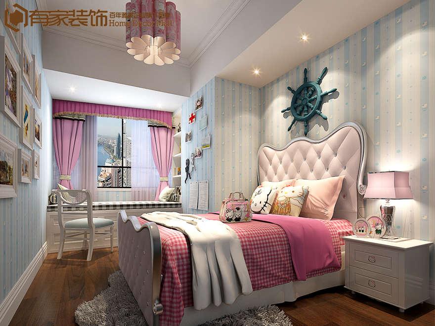 厦门光明大厦95平欧式风格装修效果图案例|室内设计