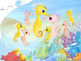 短篇科普绘本《海马爸爸的神奇肚子》