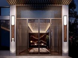 [木修远-方寸山]新中式壁灯室内空间软装搭配