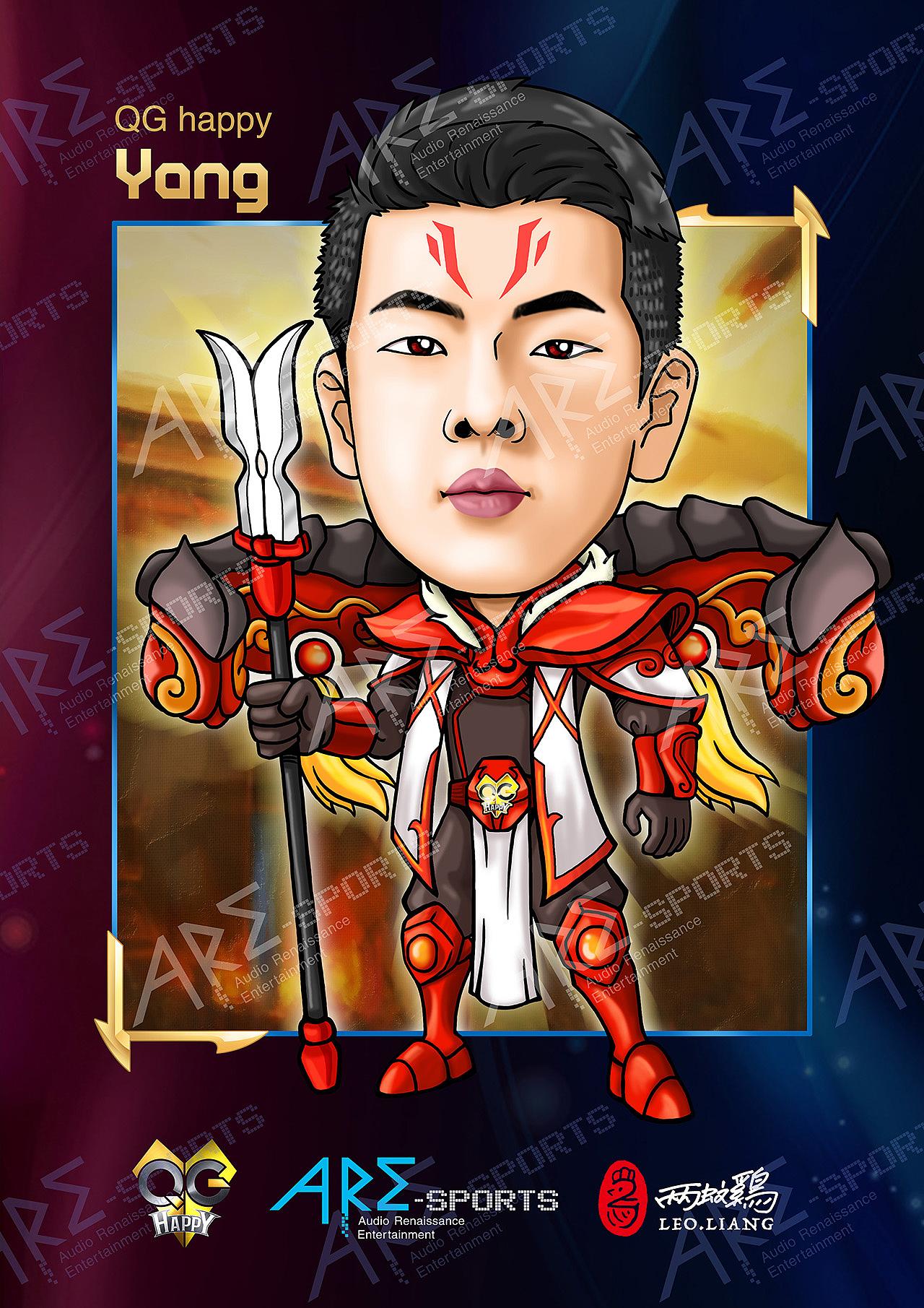 王者荣耀-qg战队漫画人物