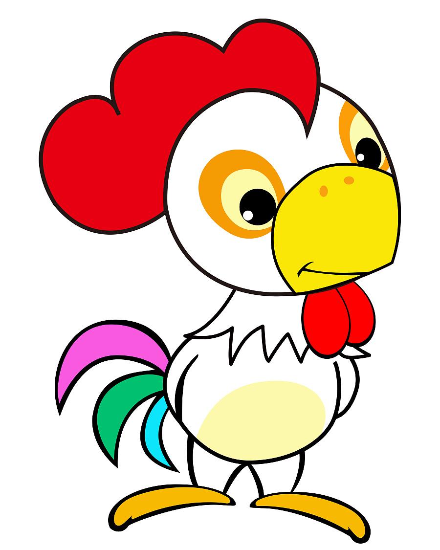 鸡年 十二生肖矢量ai 卡通动物|图案|平面|谢斌