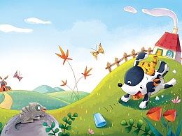 儿童绘本《花斑犬》已出版