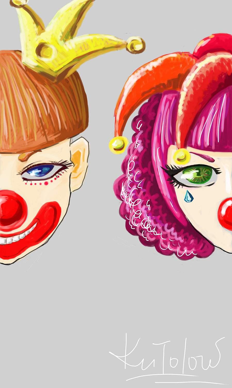查看《两只小丑》原图,原图尺寸:1800x3000