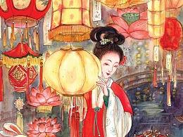 传统节日六美人